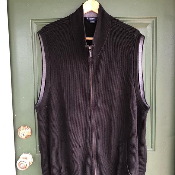 Daniel Cremieux Other - Black Daniel Cremieux Ribbed Sweater Vest full zip